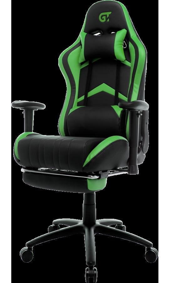 Геймерское кресло GT Racer X-2534-F Black/Green