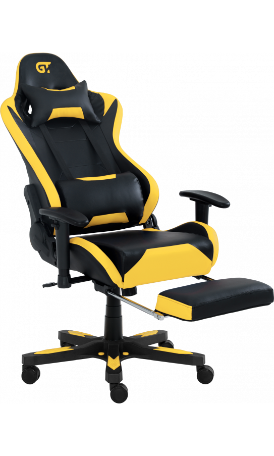 Геймерское кресло GT Racer X-2535-F Black/Yellow