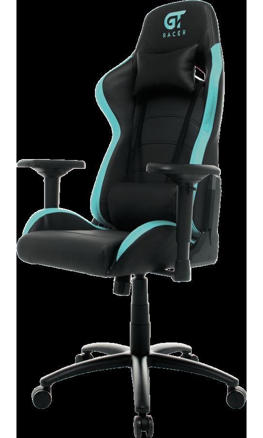 Геймерское кресло GT Racer X-2545MP (Massage) Black/Mint