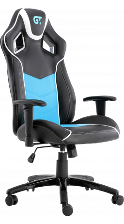 11Геймерське крісло GT Racer X-2560 Black/White/Light Blue