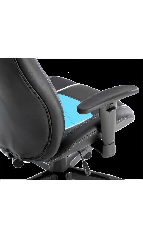 Геймерське крісло GT Racer X-2560 Black/White/Light Blue