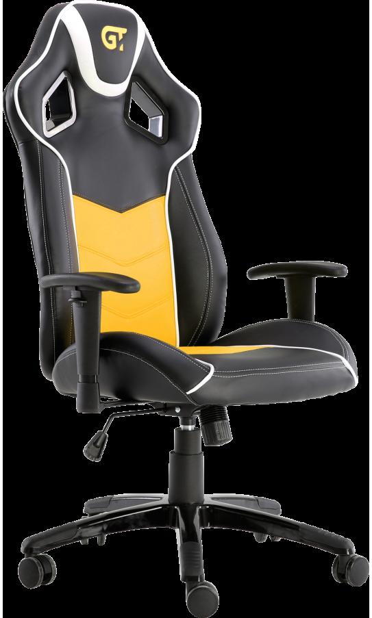 Геймерское кресло GT Racer X-2560 Black/White/Yellow