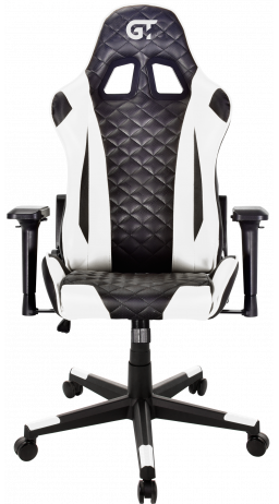 11Геймерське крісло GT Racer X-2563-1LP Black/White