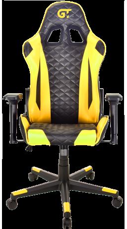 11Геймерське крісло GT Racer X-2563-1LP Black/Yellow
