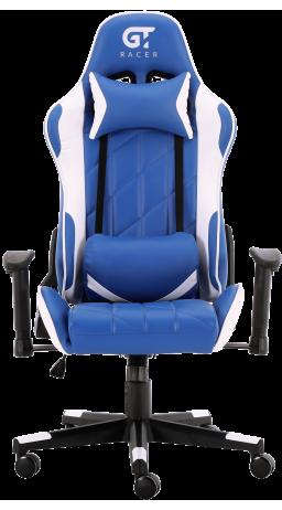 11Геймерське крісло GT Racer X-2579 Blue/White