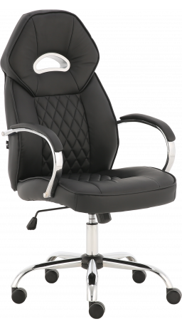 Office chair GT Racer X-2740AB Chrome Black
