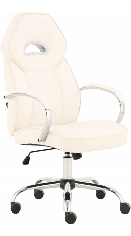 Office chair GT Racer X-2740AB Chrome White