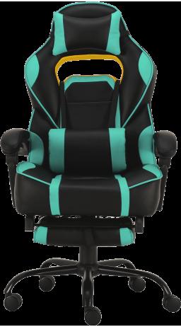 11Геймерське крісло GT Racer X-2748 Black/Mint