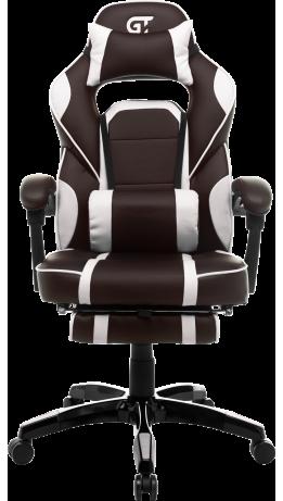 Геймерське крісло GT Racer X-2749-1 Dark Brown/White