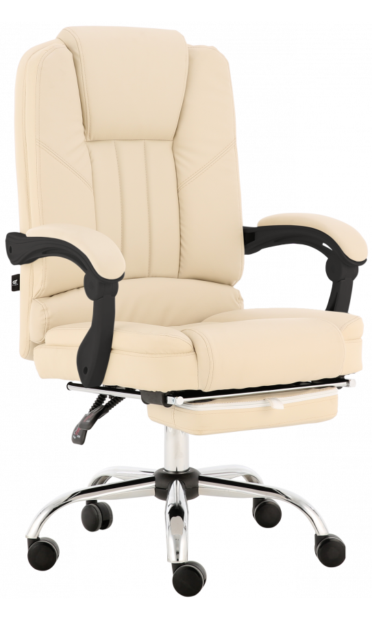 Oфисное кресло GT Racer X-2976 Footrest Cream