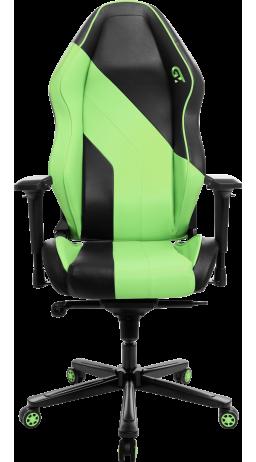 11Геймерське крісло GT Racer X-3101 Wave Black/Light Green