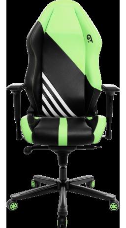 11Геймерське крісло GT Racer X-3104 Wave Black/Light Green