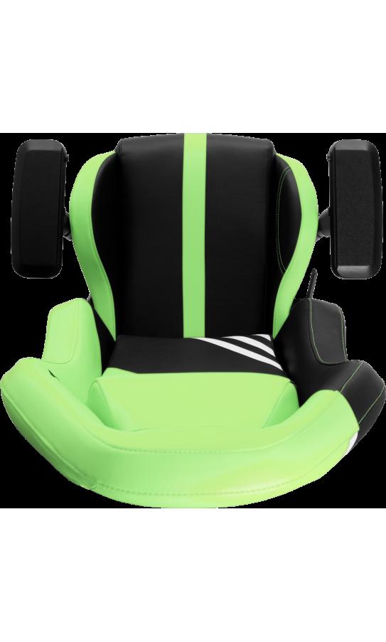 Геймерское кресло GT Racer X-3104 Wave Black/Light Green