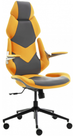 11Gaming chair GT Racer X-6691 Gray/Yellow