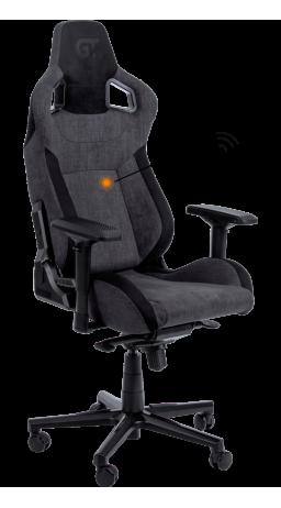 11Геймерське крісло GT Racer X-8005 Dark Gray/Black Suede