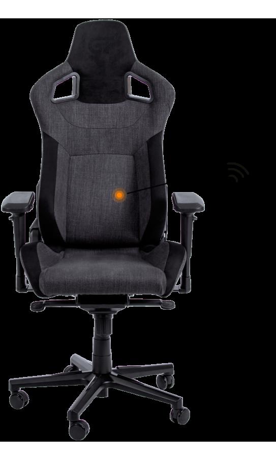 Геймерское кресло GT Racer X-8005 Dark Gray/Black Suede