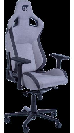 Геймерське крісло GT Racer X-8005 Light Grey/Black Suede
