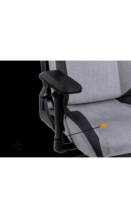 Геймерское кресло GT Racer X-8005 Light Gray/Black Suede