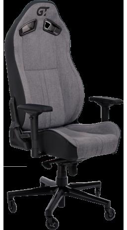 11Геймерське крісло GT Racer X-8009 Fabric Light Gray/Black