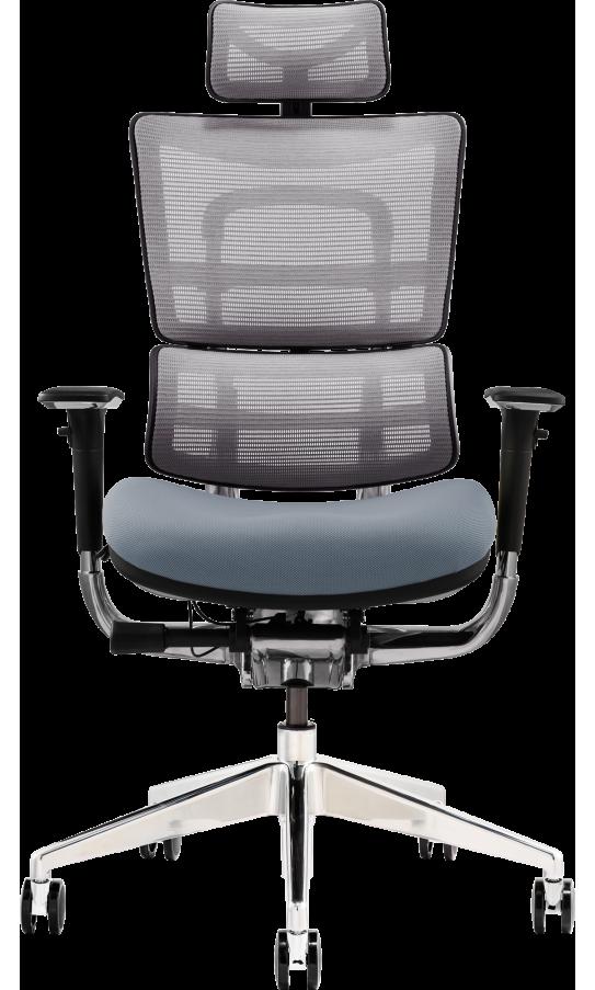 Офісне крісло GT Racer X-801 Bright Gray (W-20, B-40)