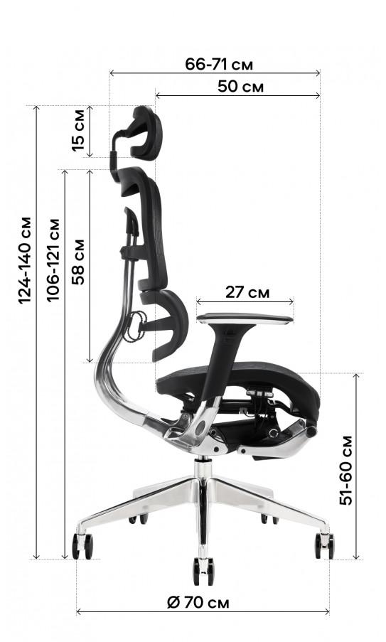 Офісне крісло GT Racer X-801L Blue (W-85)
