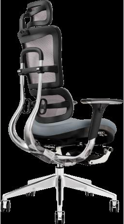 Офісне крісло GT Racer X-801L Bright Gray (W-20, B-40)