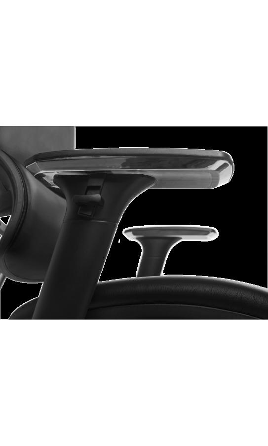 Офісне крісло GT Racer X-807 Leather Black (P-02)