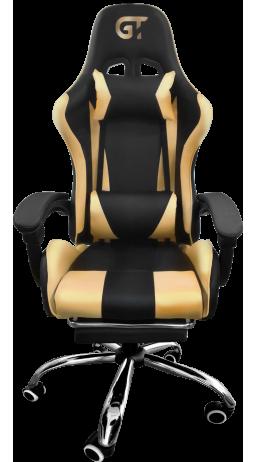 11Геймерське крісло GT Racer X-9002 Black/Gold