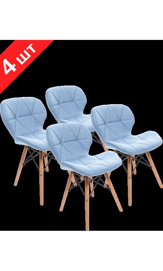 Комплект стільців GT Racer X-D27 Fabric Blue (4 шт)