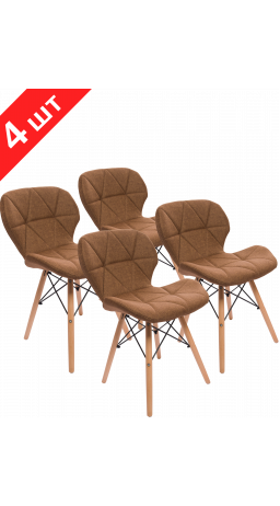 Chairs set GT Racer X-D27 Fabric Brown (4 psc)