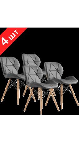 Chairs set GT Racer X-D27 Gray (4 psc)