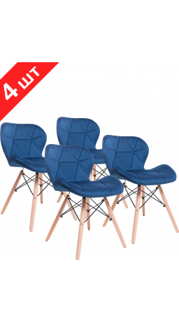 Комплект стільців GT Racer X-D27 Velvet Blue (4 шт)
