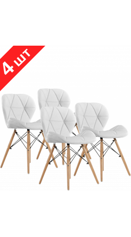 Chairs set GT Racer X-D27 White (4 psc)