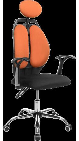 Офісне крісло GT Racer X-W1032 Fabric Black/Orange