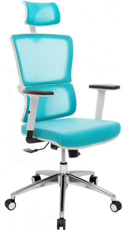 Офісне крісло GT Racer X-W50 White/Blue