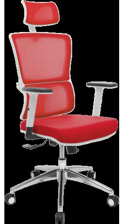 11Офісне крісло GT Racer X-W50 White/Red