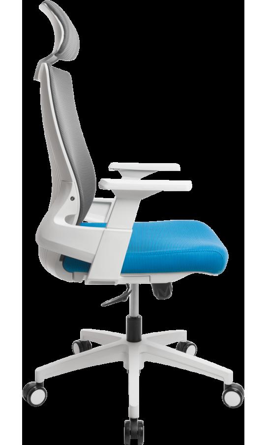 Офисное кресло GT Racer X-W82 White/Blue/Gray