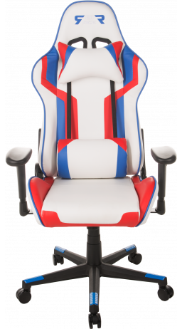 Gaming chair GT Racer X-2530 White/Blue/Red