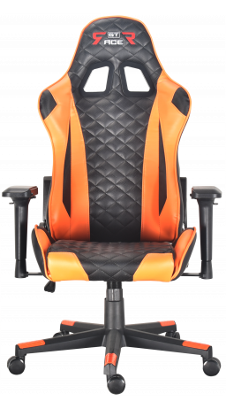 Gaming chair GT Racer X-2563-1LP Black/Orange