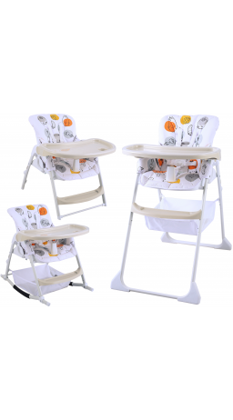 Feeding chair 3 in 1 GT Baby HC-01 Cartoon white