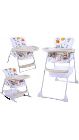 Стільчик для годування 3 в 1 GT Baby HC-01 Cartoon white