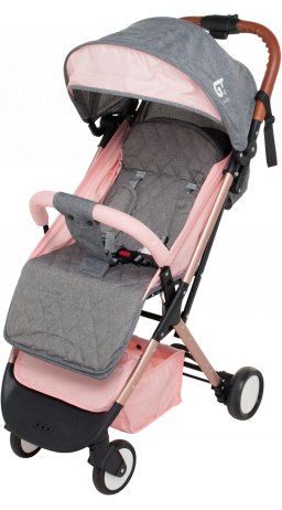 Children's stroller GT Baby 1802 Gold/Pink/Gray