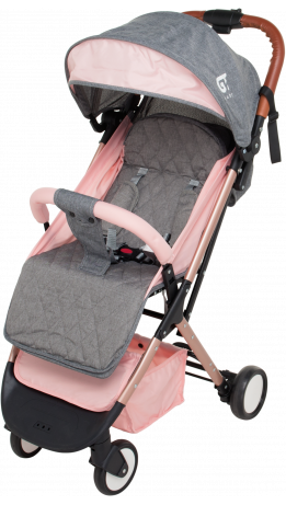 Прогулянкова коляска GT Baby 1802 Gold/Pink/Gray