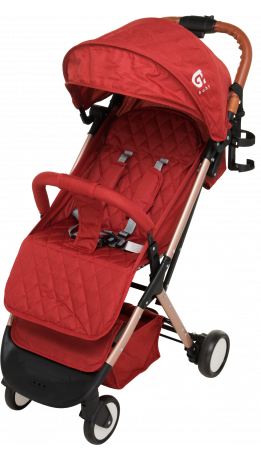 Прогулянкова коляска GT Baby 1802 Gold/Red