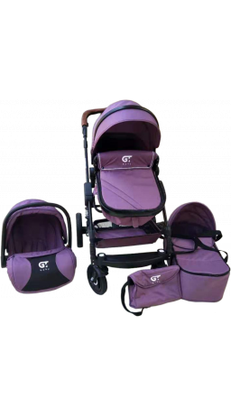 Universal Stroller 3 in 1 GT Baby 2801 Black/Purple