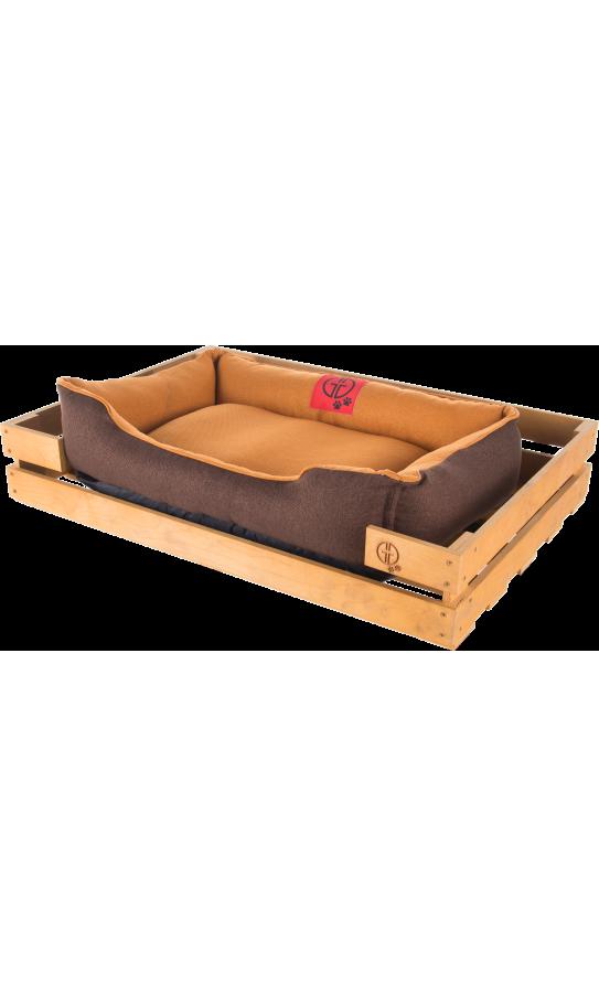 Лежак GT Dreamer Kit Pine S 72 x 60 x 10 см (Бежевий з коричневим)