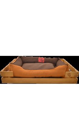 Лежак GT Dreamer Kit Pine L 98 x 64 x 15 см (Brown-Beige)