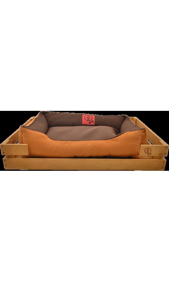 Лежак GT Dreamer Kit Pine M 78 x 54 x 12 см (Brown-Beige)