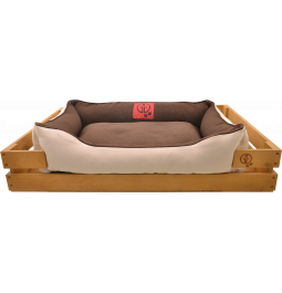 Лежак GT Dreamer Kit Pine XL 118 x 74 x 16 см (Brown-White)