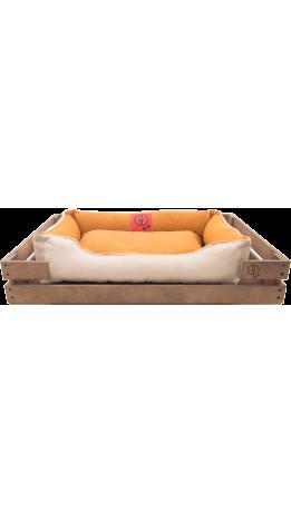 Лежак GT Dreamer Kit Chestnut L 98 x 64 x 15 см (Beige-White)